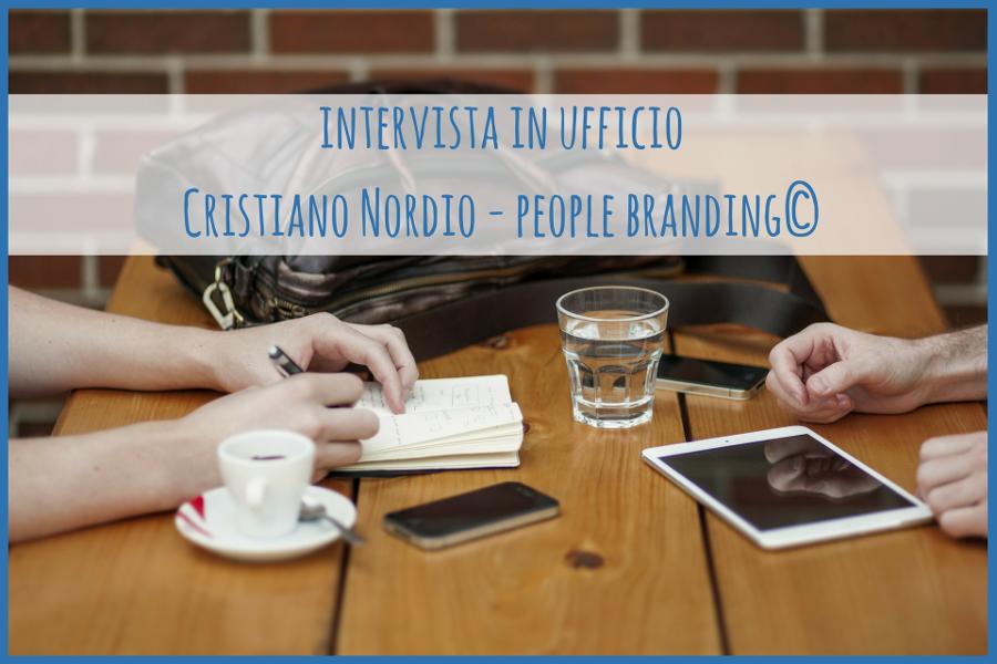 Intervista in ufficio Cristiano Nordic People Branding