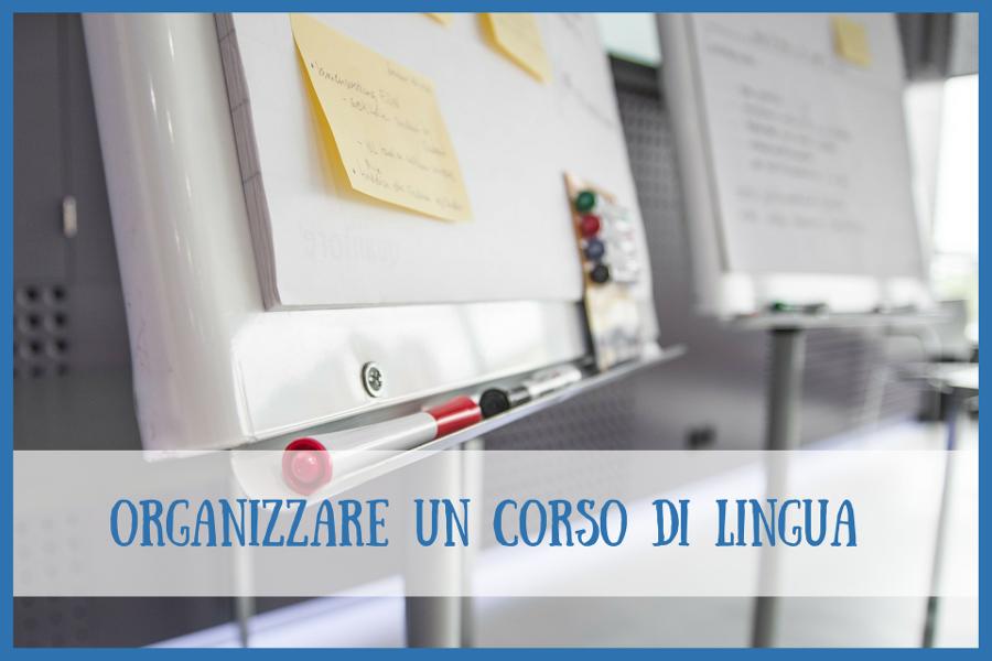 organizzare corso di lingua